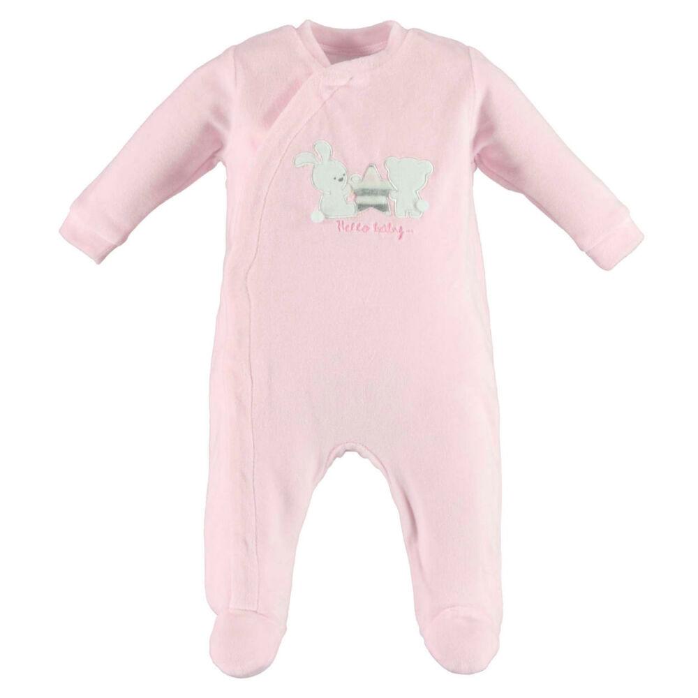iDO rugdalózó puha plüss anyagból nyuszival és macival - rózsaszín - Bunny and Teddy