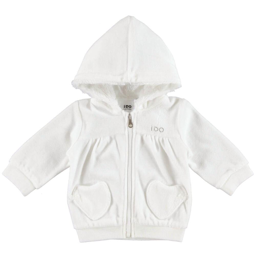 iDO műszörmével bélelt kapucnis kabát - krém - Bunny and Teddy