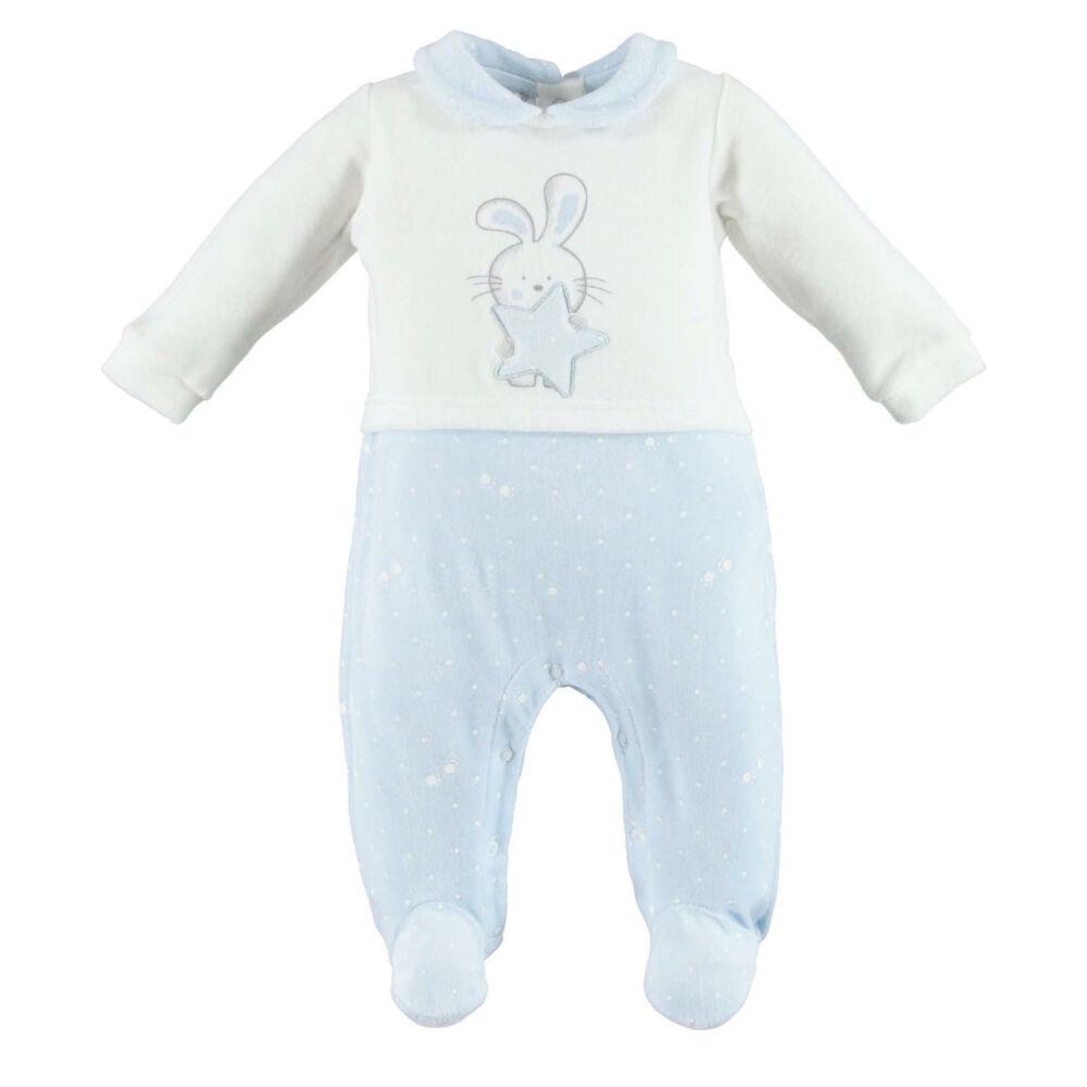 iDO galléros rugdalózó puha plüss anyagból - világoskék - Bunny and Teddy