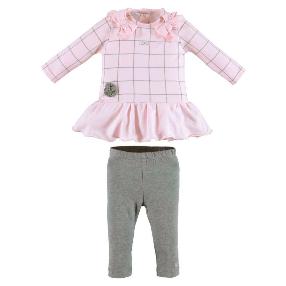 iDO kockás szett - rózsaszín - Bunny and Teddy