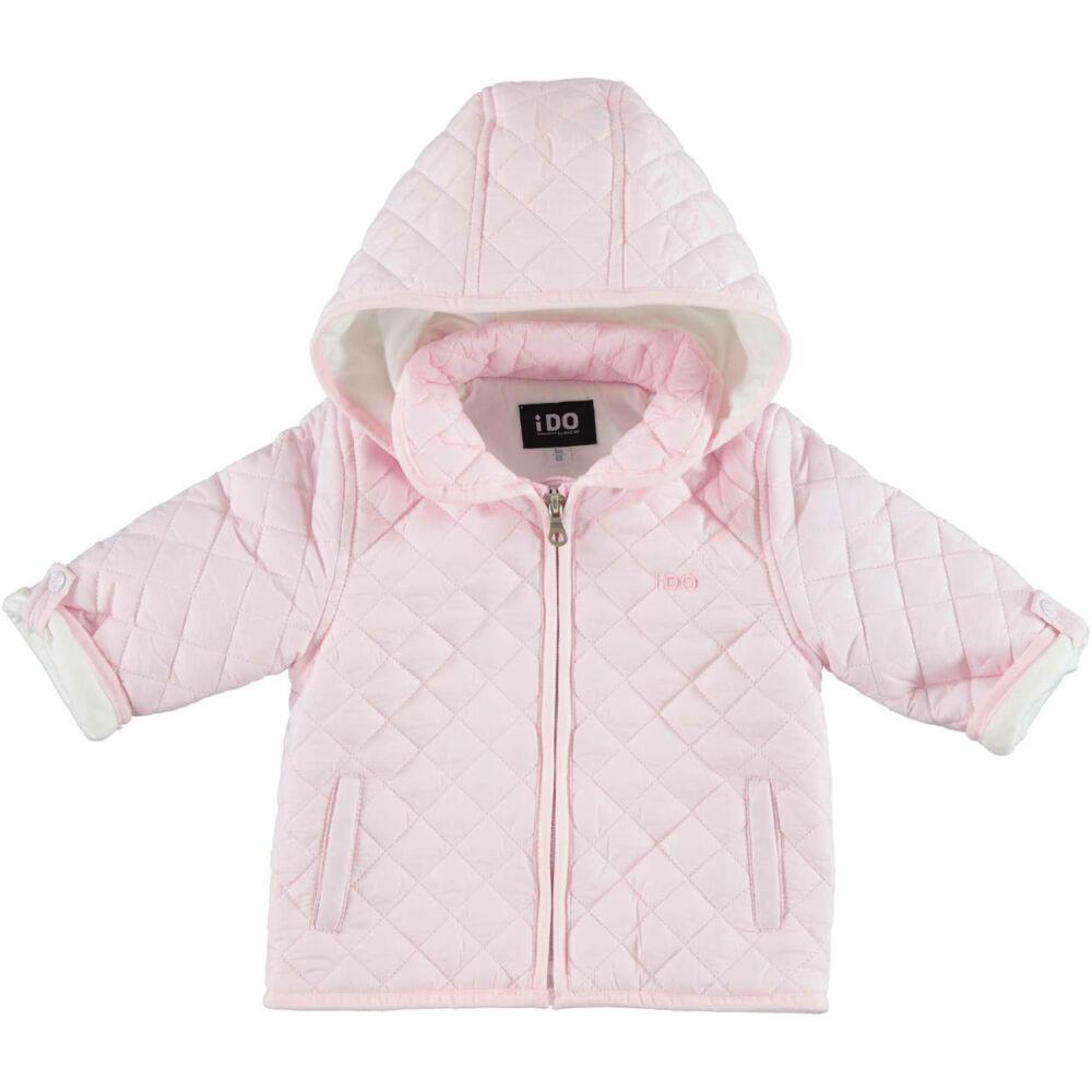 iDO unisex steppelt kabát levehető kapucnival - rózsaszín - Bunny and Teddy