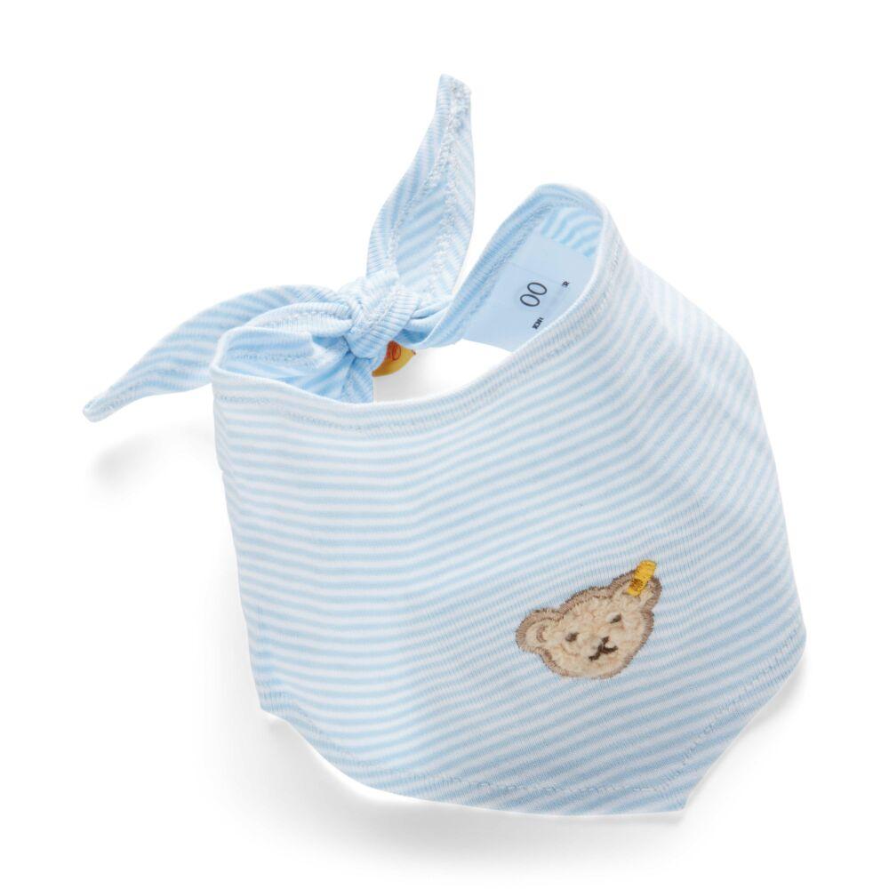 Steiff kendő- Basic kollekcó világoskék    Bunny and Teddy