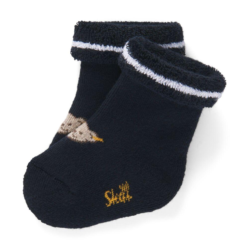 Steiff újszülött zokni- Basic kollekcó sötétkék/fekete    Bunny and Teddy