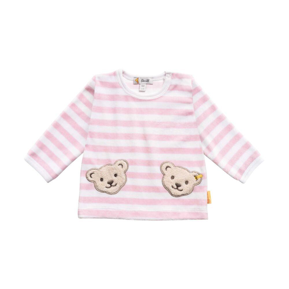 Steiff csíkos plüss pulóver- Basic kollekcó rózsaszín  | Bunny and Teddy