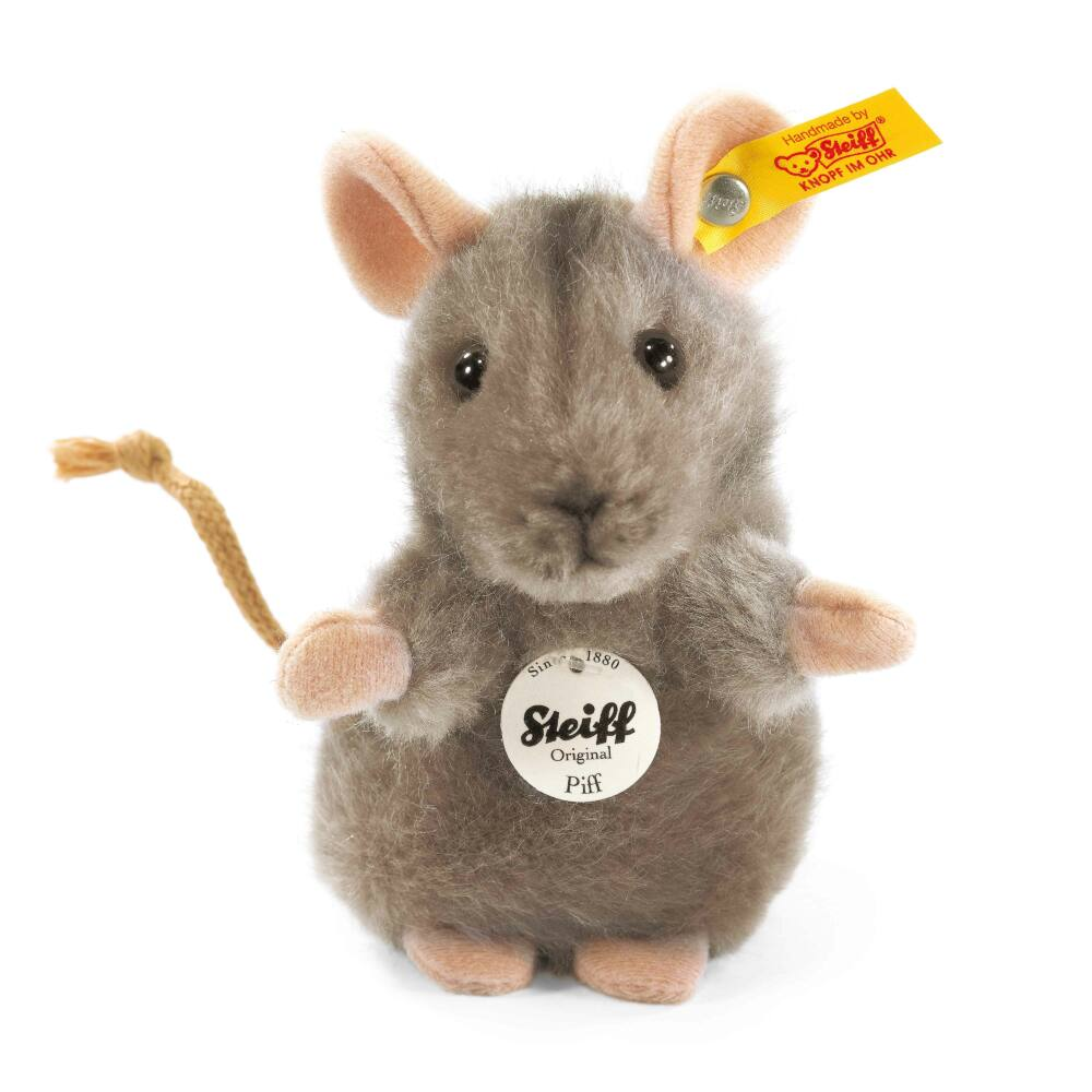 Steiff Piff egér - szürke - Bunny and Teddy