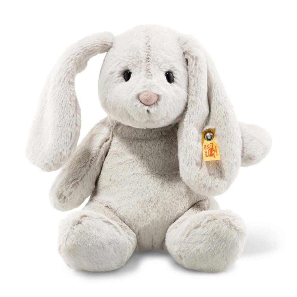 plüss nyuszi Soft Cuddly Friends Hoppie rabbit, light grey szürke - Bunny and Teddy