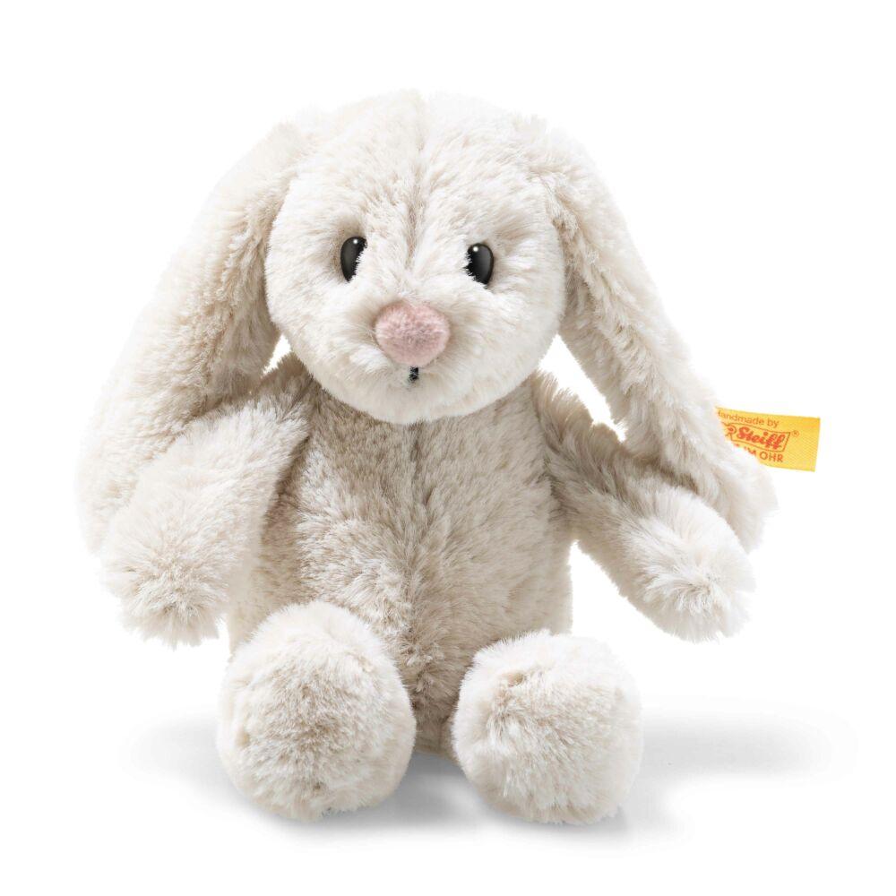 Soft Cuddly Friends Hoppie rabbit, light grey - fehér - Bunny and Teddy