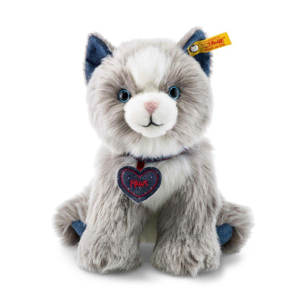 Steiff Denim Darlings Paws cica - fehér - Bunny and Teddy