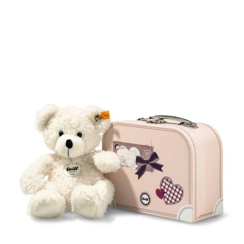 Steiff Lotte Teddy maci bőröndben - fehér - Bunny and Teddy