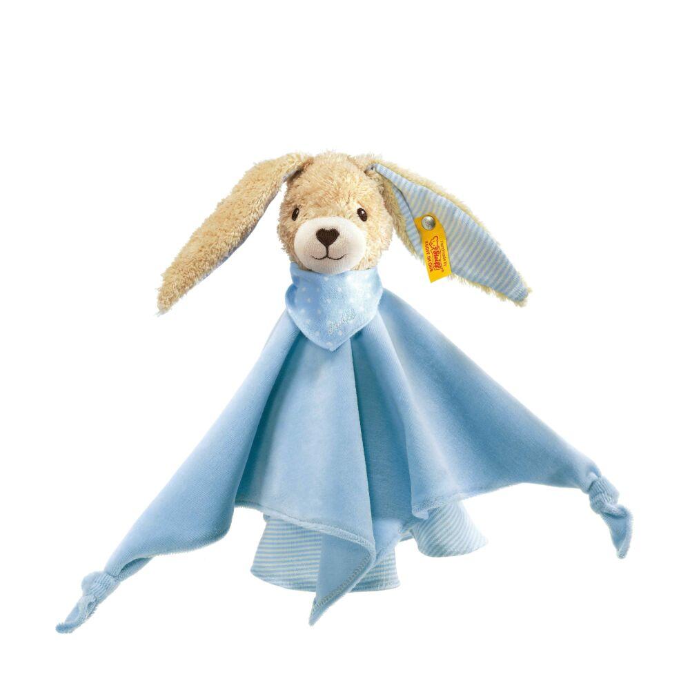 Steiff Hoppel  nyuszi szundikendő biopamutból- kék- Bunny and Teddy