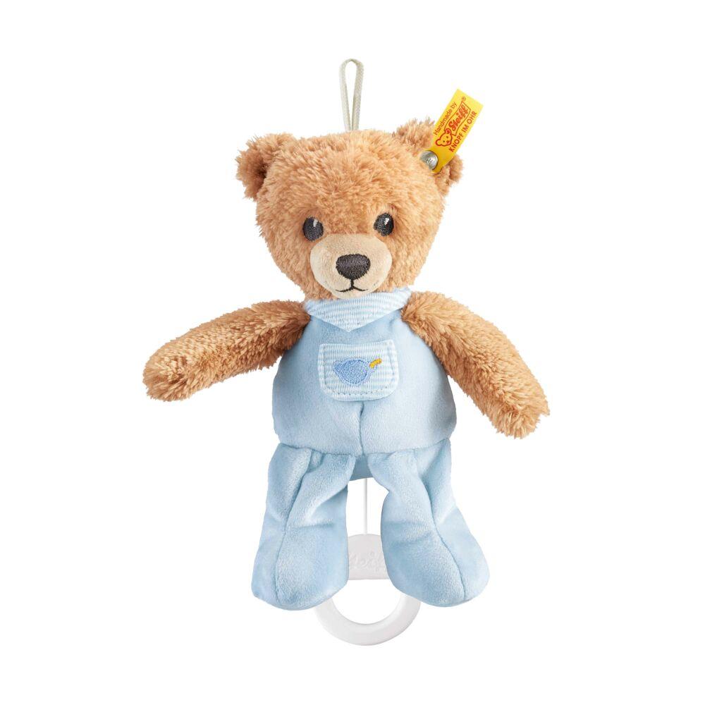 """Steiff """"Aludj jól"""" felhúzható zenélő maci- kék- Bunny and Teddy"""