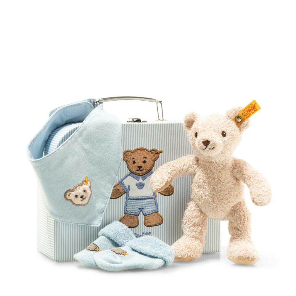 Steiff kisfiú ajándékcsomag újszülött kortól- világos kék- Bunny and Teddy