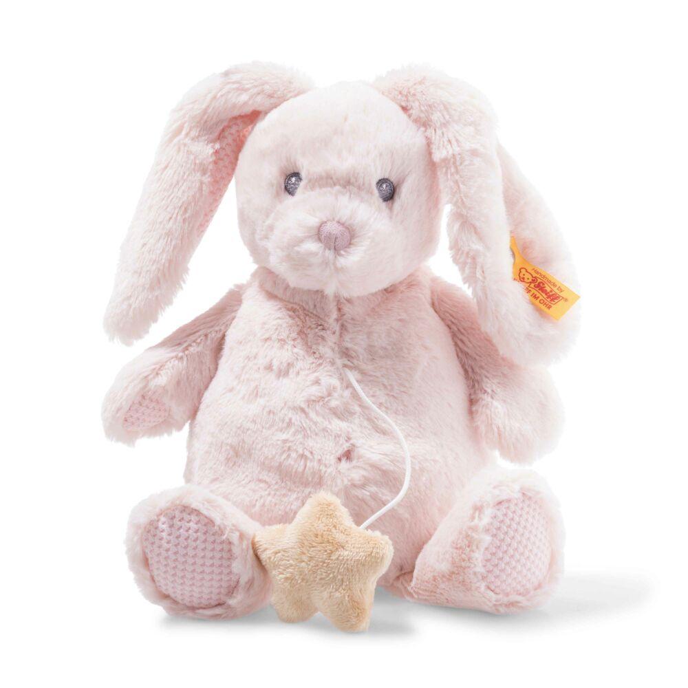 Steiff Soft Cuddly Friends zenélő Belly nyuszi- világos rózsaszín- Bunny and Teddy