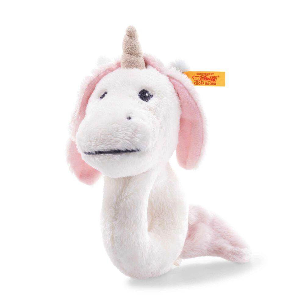Steiff Soft Cuddly Friends csörgő bébi unikornis - fehér - Bunny and Teddy