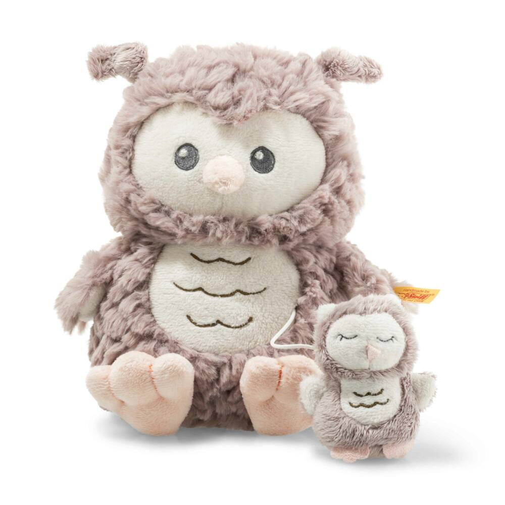 Steiff Ollie felhúzható zenélő bagoly - Soft Cuddly Friends kollekció - rózsaszín - Bunny and Teddy
