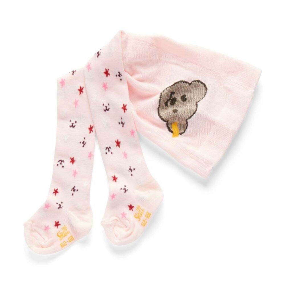 Steiff harisnyanadrág - rózsaszín - Bunny and Teddy
