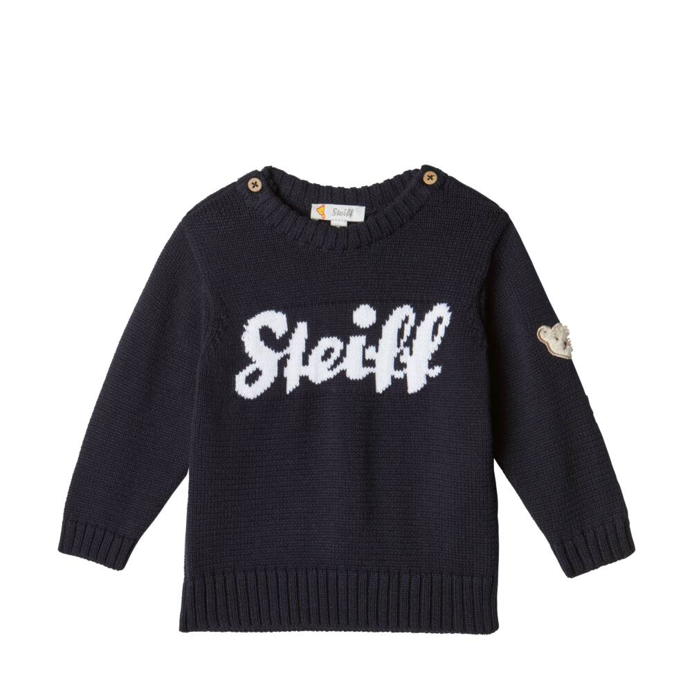 Steiff kötött pulóver - sötétkék/fekete - Bunny and Teddy