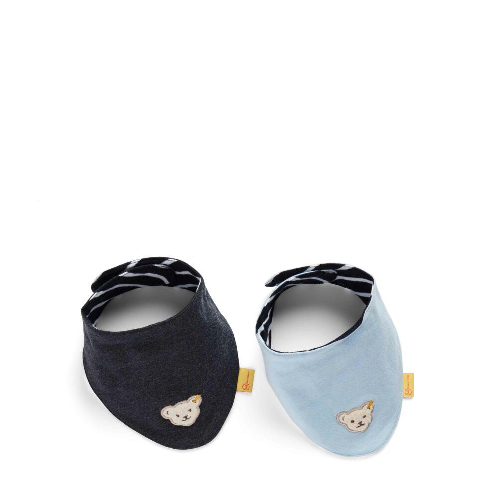 Steiff tépőzáras kendő, 2db-os csomag - sötétkék/fekete - Bunny and Teddy