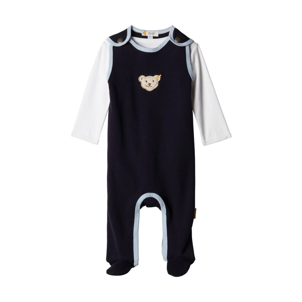 Steiff 2 részes szett (rugdalózó és hosszú ujjú póló) - sötétkék/fekete - Bunny and Teddy