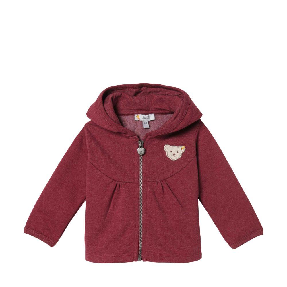 Steiff bélelt pamut kabát, kardigán - piros - Bunny and Teddy