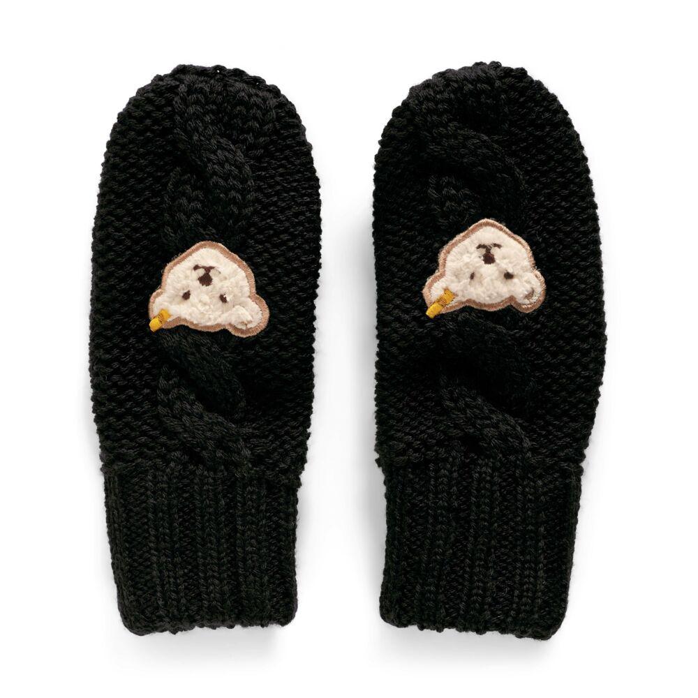 Steiff kötött kesztyű - sötétkék/fekete - Bunny and Teddy