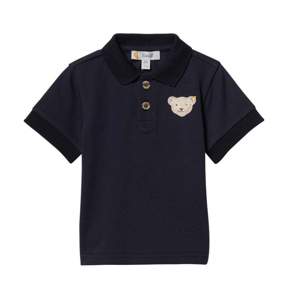 Steiff rövid ujjú galléros póló - sötétkék/fekete - Bunny and Teddy