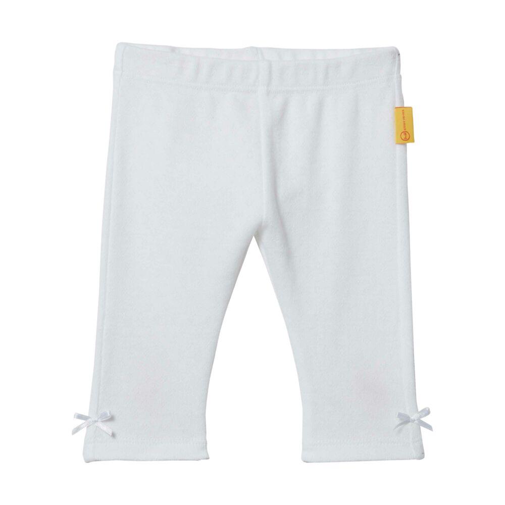 Steiff leggings biopamutból- fehér- Bunny and Teddy