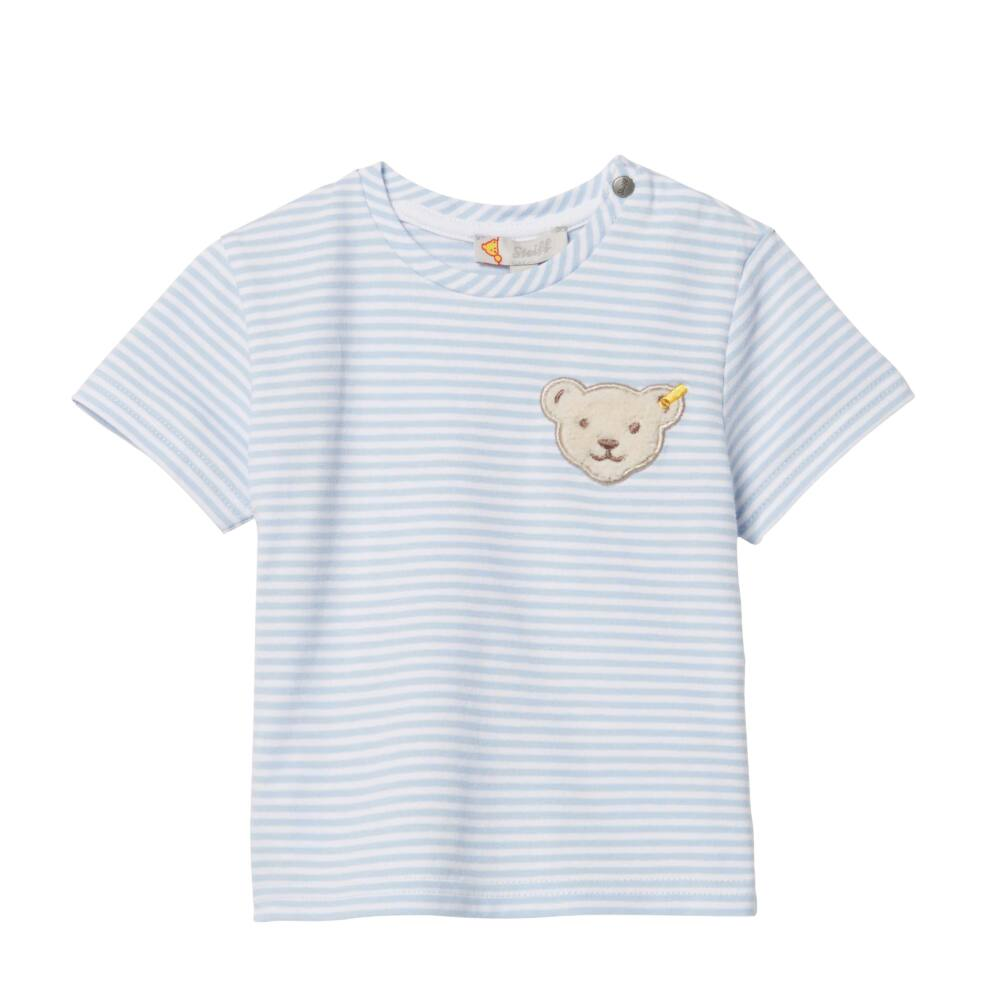 Steiff csíkos póló- kék- Bunny and Teddy