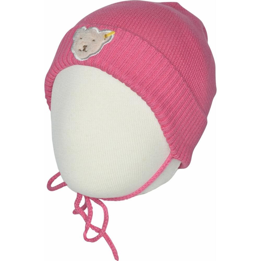 Steiff kislány kötött baba sapka megkötővel  - Bear in my heart kollekció-rózsaszín-Bunny and Teddy