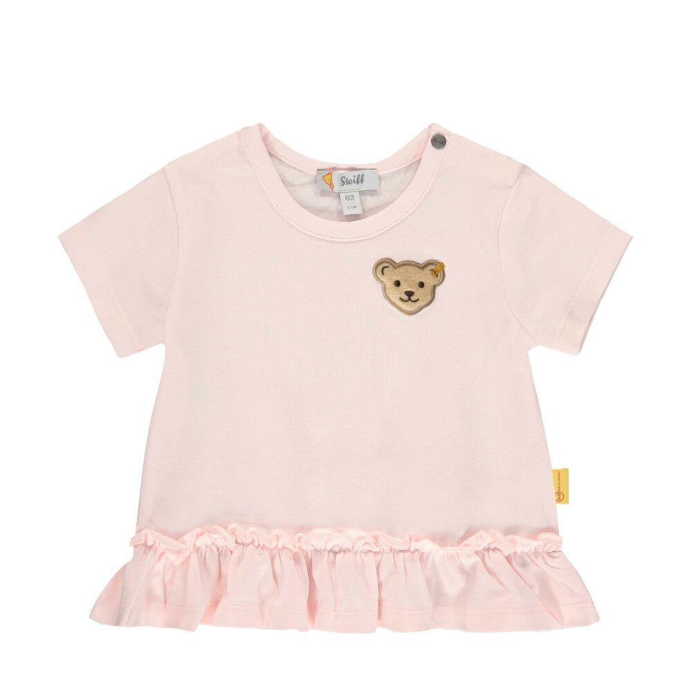 Steiff rózsaszín rövid ujjú póló fodrokkal - Bear in my heart kollekció-világos rózsaszín-Bunny and Teddy