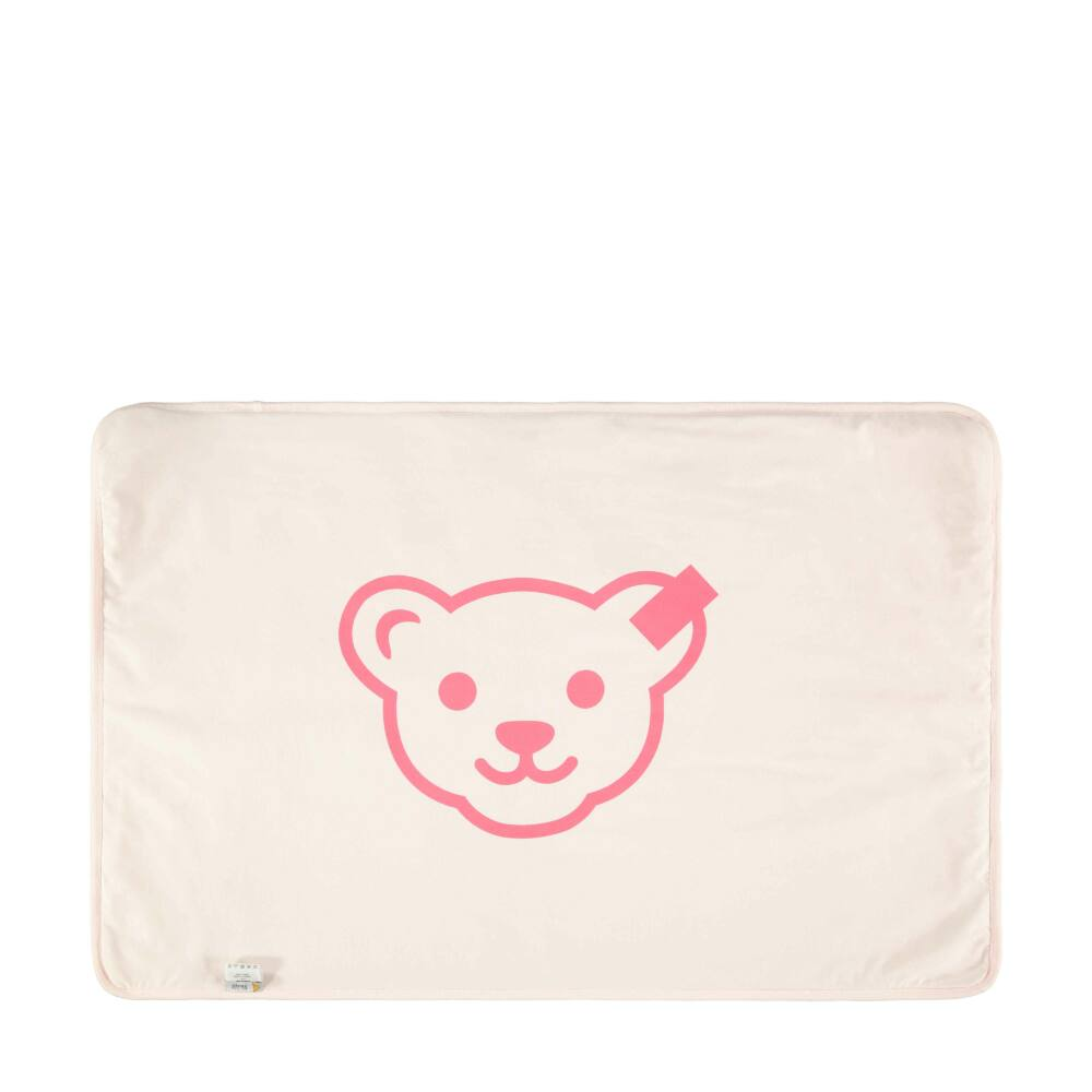 Steiff takaró, babapléd kislányoknak szívecskés és macis mintával - Bear in my heart kollekció-világos rózsaszín-Bunny and Teddy