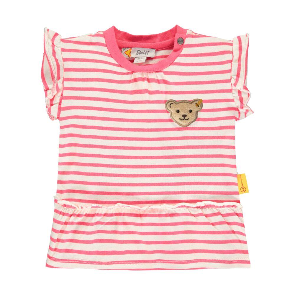 Steiff kislány rövid ujjú fodros baba póló - Bear in my heart kollekció-rózsaszín-Bunny and Teddy