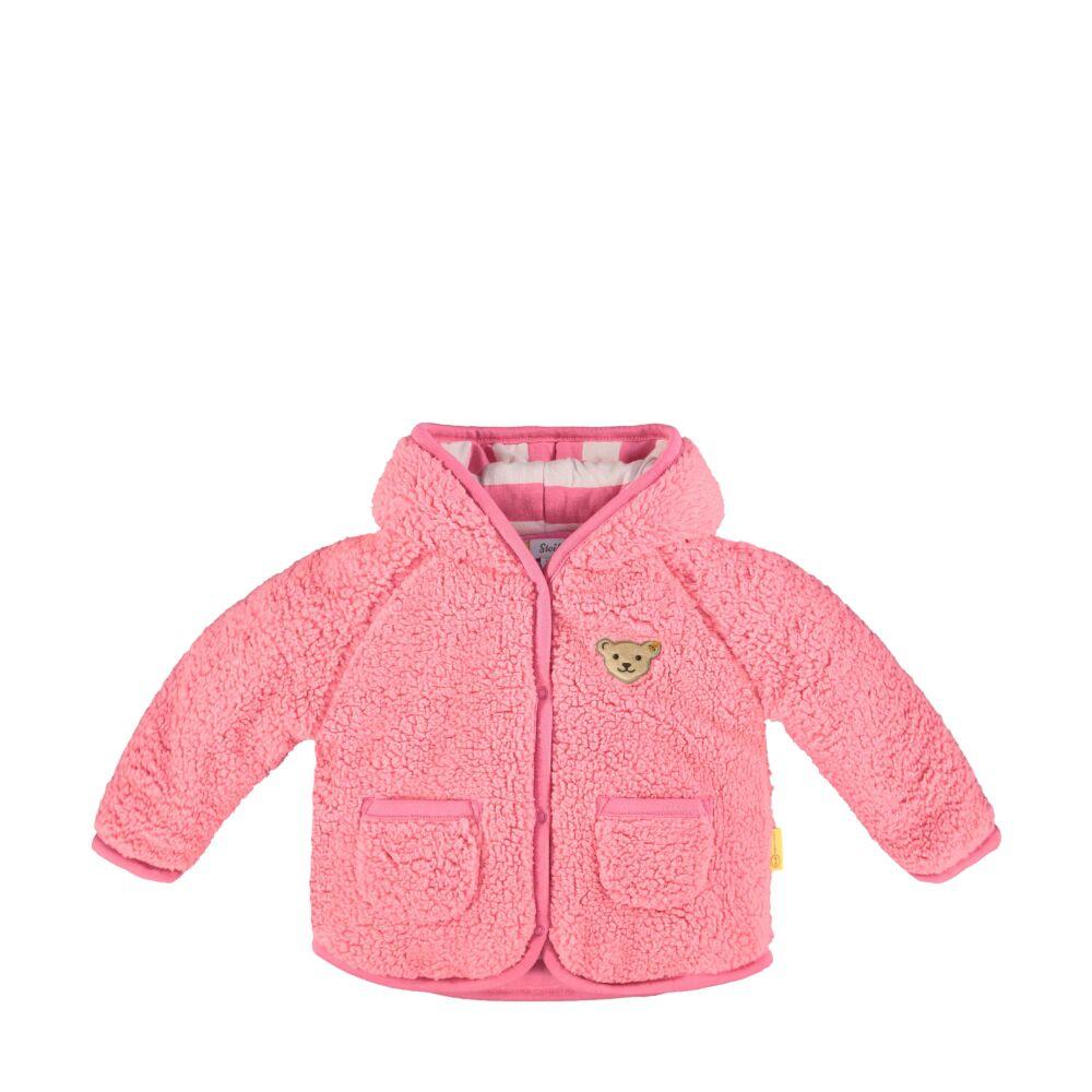 Steiff kislány kapucnis kocsikabát - Bear in my heart kollekció-rózsaszín-Bunny and Teddy
