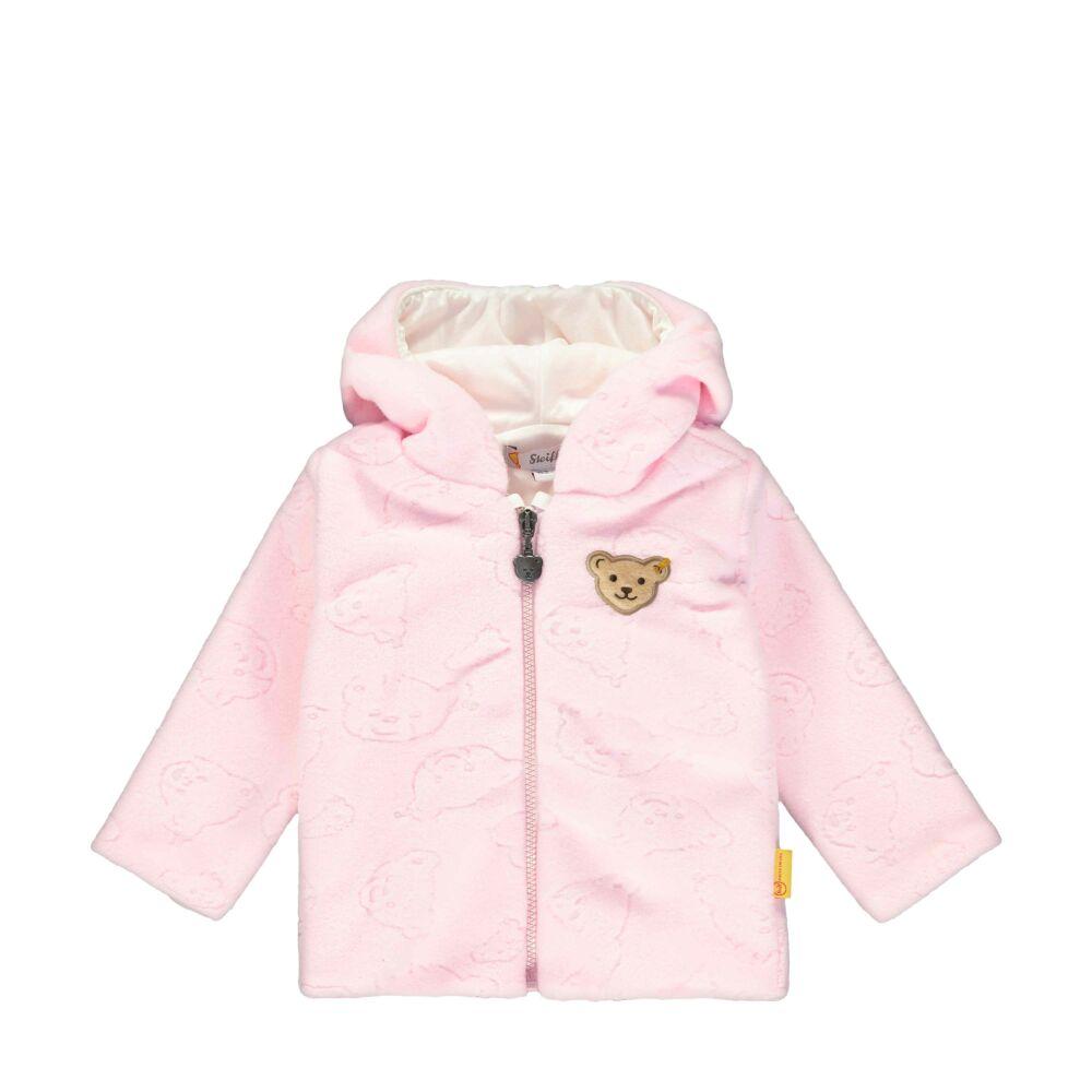 Steiff kislány polár fleece kocsikabát különleges mintával - Bear in my heart kollekció-világos rózsaszín-Bunny and Teddy