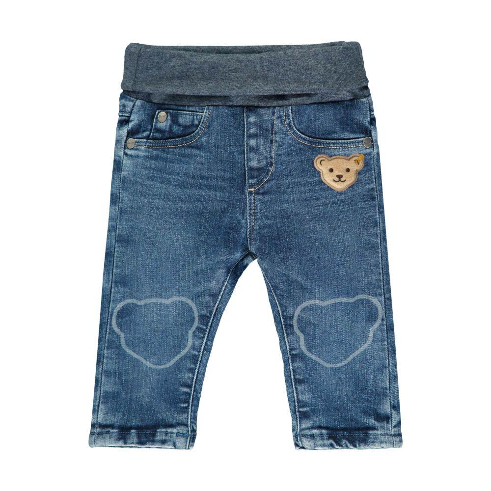 Steiff baba farmernadrág kisfiúknak gumipánttal - Bear Blues kollekció-kék-Bunny and Teddy