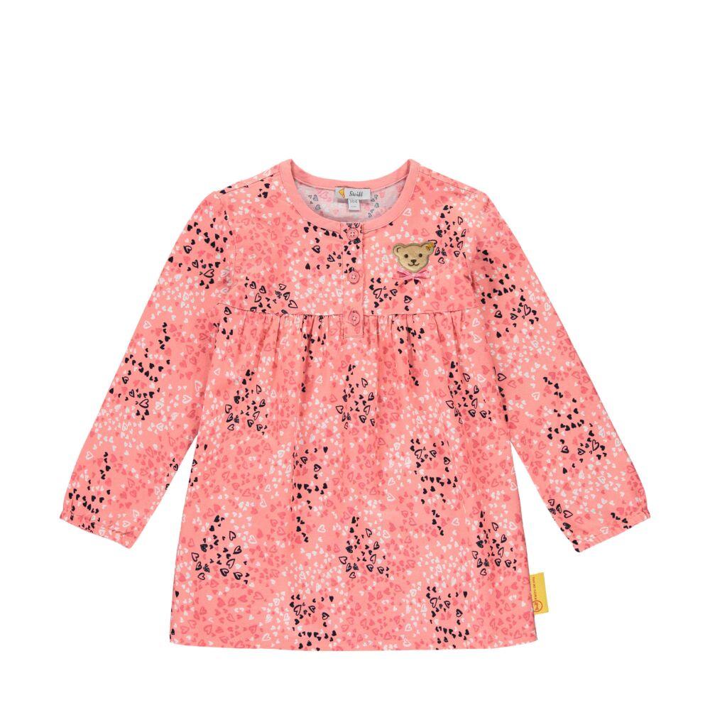 Steiff hosszú ujjú tunika szívecskés mintával - Heartbeat kollekció-pink-Bunny and Teddy