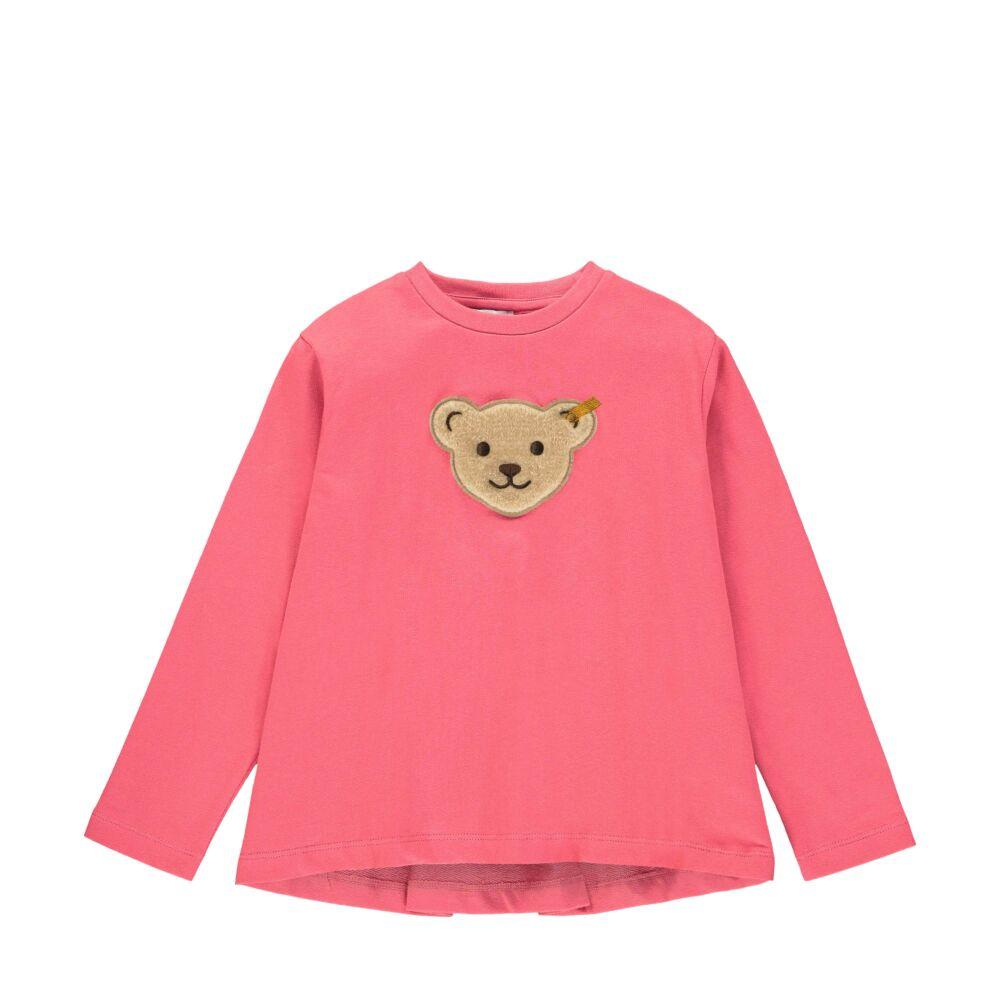Steiff hosszú ujjú póló kislányoknak sípoló macival az elején - Heartbeat kollekció-rózsaszín-Bunny and Teddy