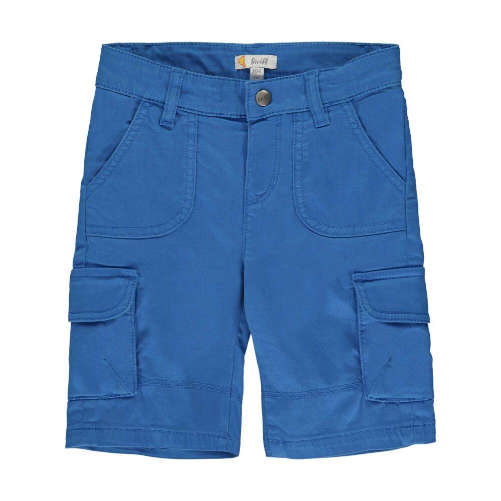 Steiff kisfiú oldalzsebes bermuda rövidnadrág - Go Bear Go kollekció-kék-Bunny and Teddy
