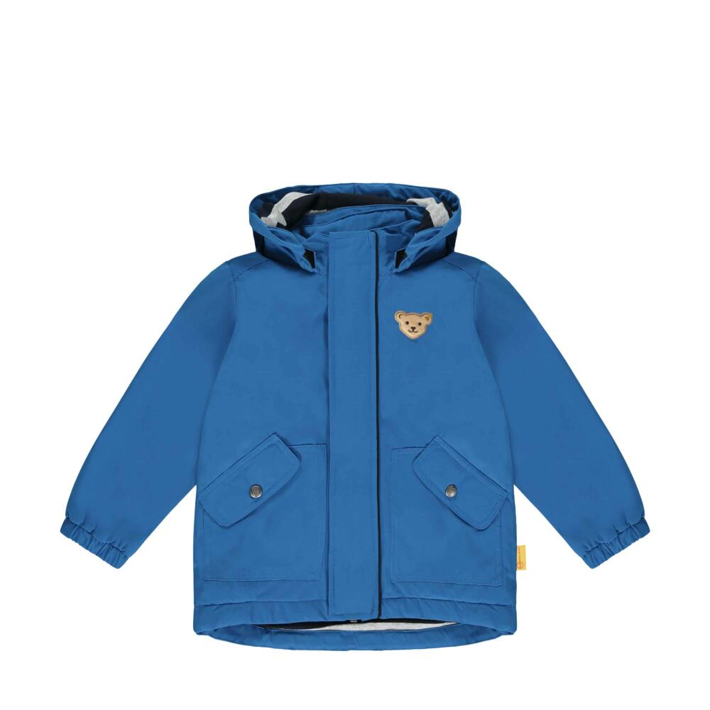 Steiff átmeneti kabát kisfiúknak szél- és vízálló impregnálással - Go Bear Go kollekció-kék-Bunny and Teddy