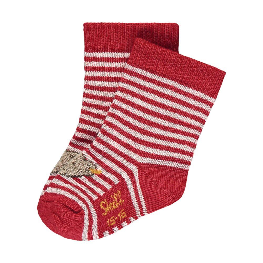 Steiff csíkos zokni - Baby kollekció-piros-Bunny and Teddy