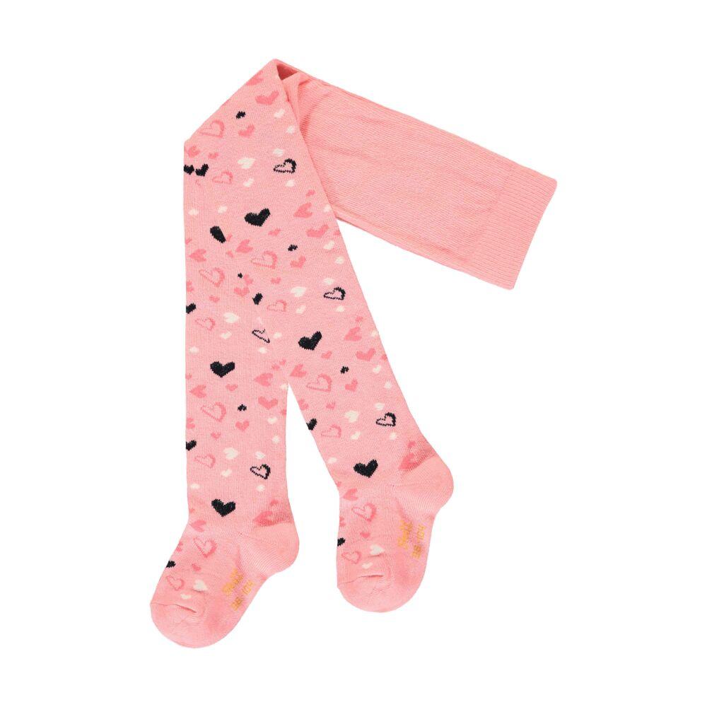 Steiff harisnyanadrág szívecskékkel - Mini kollekció-pink-Bunny and Teddy