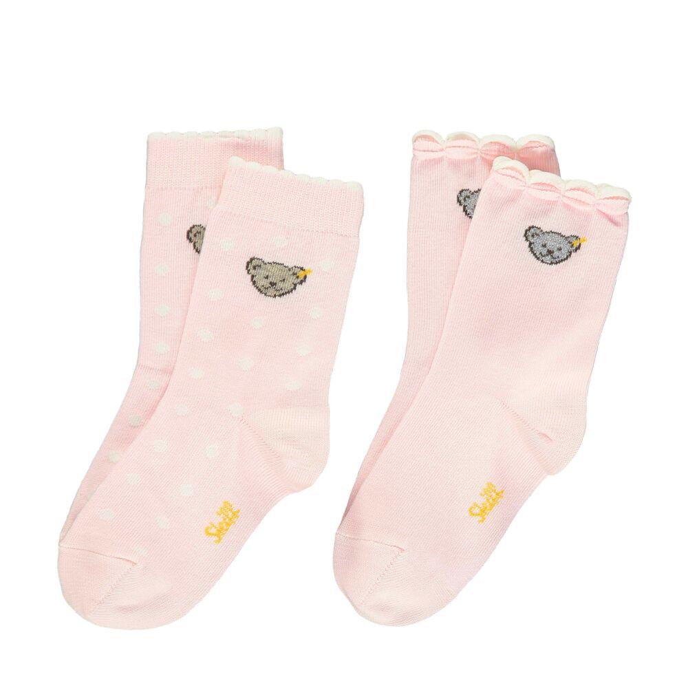 Steiff 2db-os zokni csomag - Mini kollekció-fehér-Bunny and Teddy