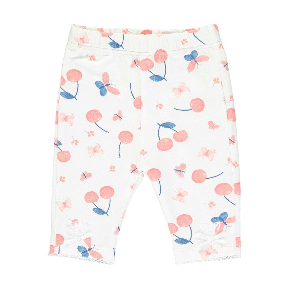 Steiff cseresznye mintás baba leggings - Bear & Cherry kollekció - fehér - Bunny and Teddy