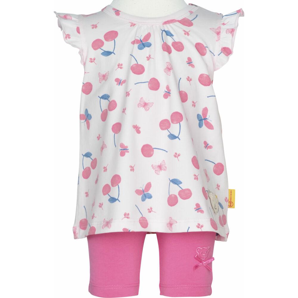 Steiff cseresznye mintás fodros felső és leggings szett - Bear & Cherry kollekció - világos rózsaszín - Bunny and Teddy