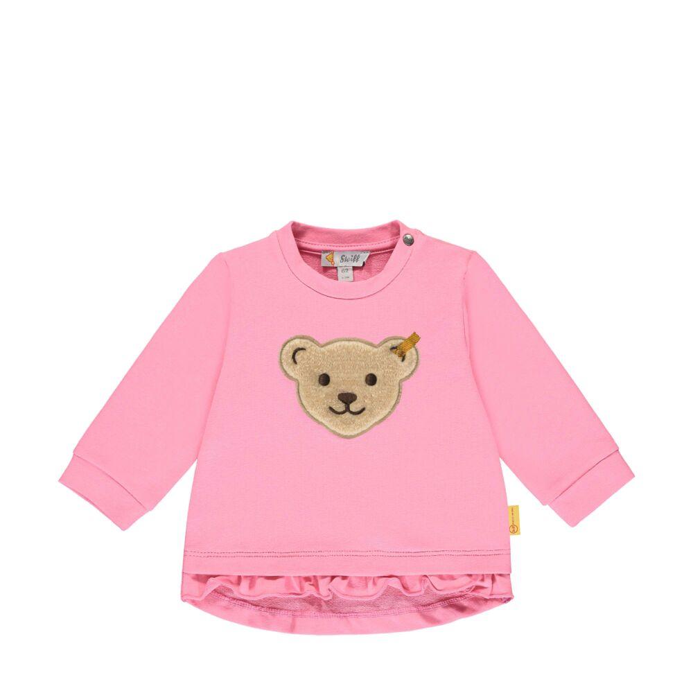Steiff fodros aljú baba pulóver puha pamutból - Bear & Cherry kollekció - rózsaszín - Bunny and Teddy