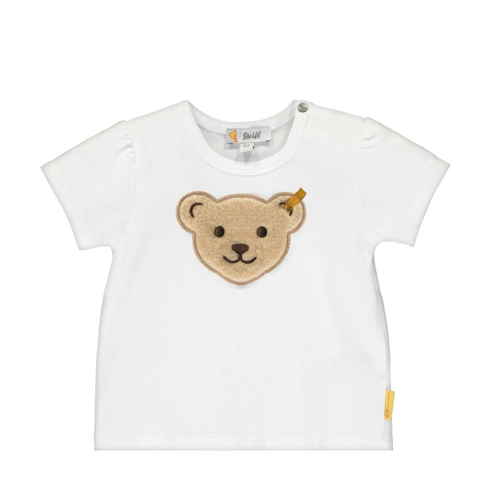 Steiff baba póló nagy maci fejjel az elején - Bear & Cherry kollekció - fehér - Bunny and Teddy
