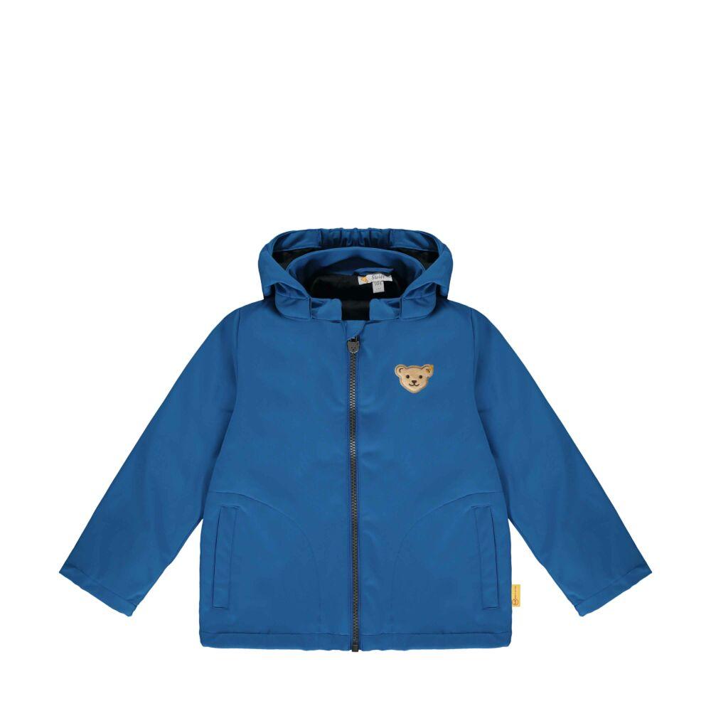 Steiff átmeneti kabát, dzseki kisfiúknak softshell anyagból Safari Bear - mini boys kollekció - kék - Bunny and Teddy