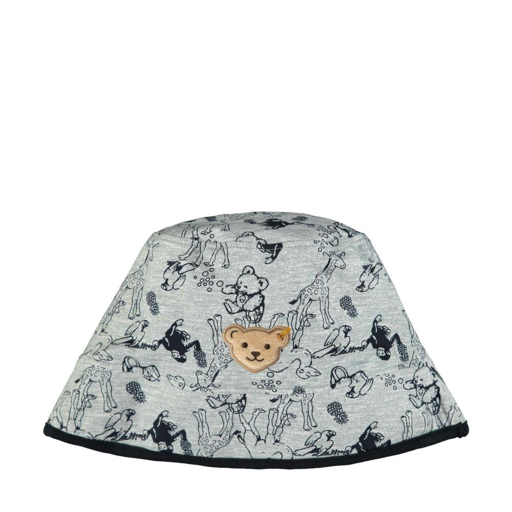 Steiff állat mintás sapka Safari Bear - mini boys kollekció - szürke - Bunny and Teddy
