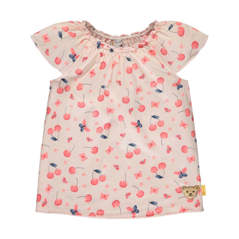 Steiff pamut blúz cseresznye mintával - Sweet Cherry kollekió - világos rózsaszín - Bunny and Teddy