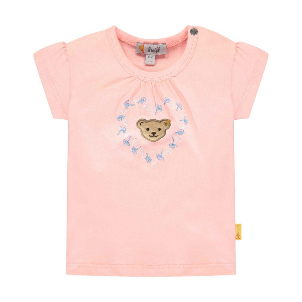 Steiff pamut póló kislányoknak  - Special Day - baby girls kollekió - világos rózsaszín - Bunny and Teddy